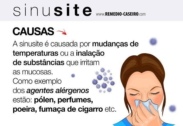 Rinite e caseiro remedio sinusite pra
