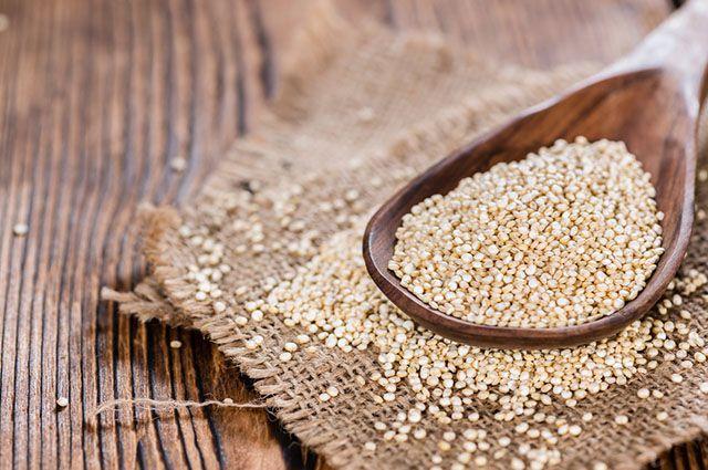 Quinoa em colher