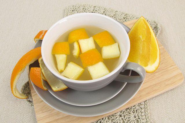 Xícara de casca de laranja