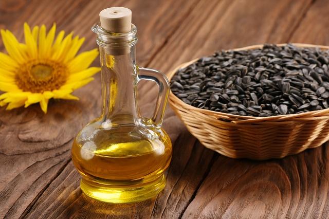 Óleo, sementes e girassol