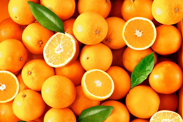 Cestos com laranjas