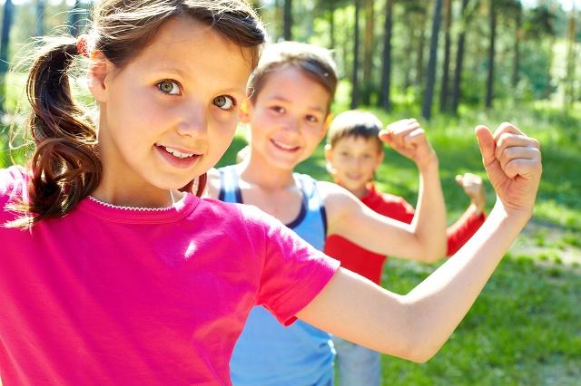 Crianças fortes