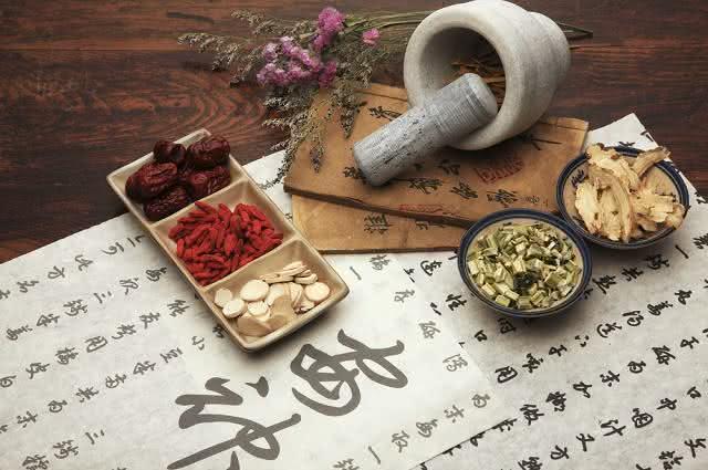 Imagem de materiais da medicina chinesa