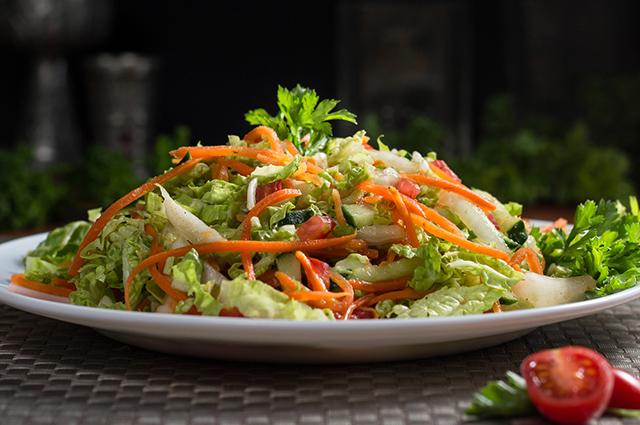 Salada de acelga e cenoura