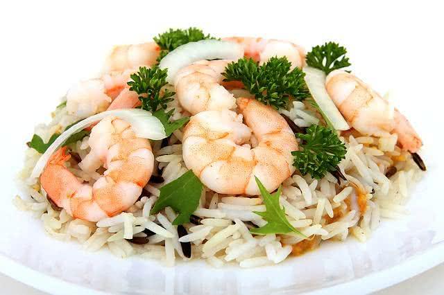 Prato de camarão