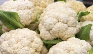 close up view of fresh and ripe cauliflower