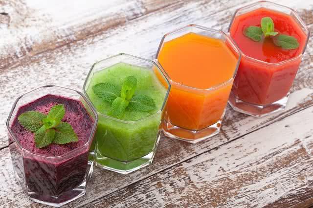 Imagem de copos de sucos