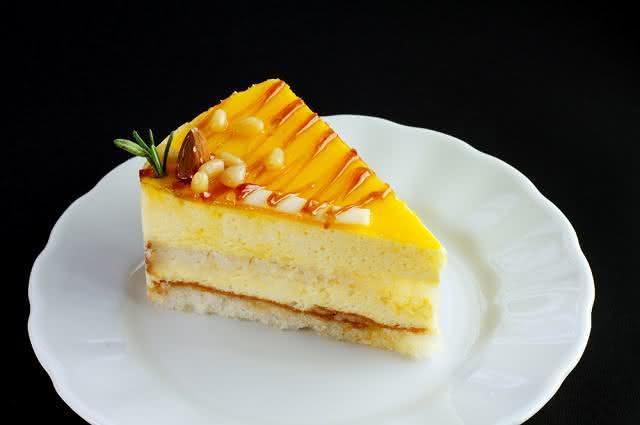Imagem de fatia de torta de manga