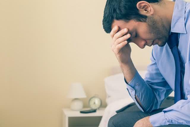 Imagem de homem com depressão