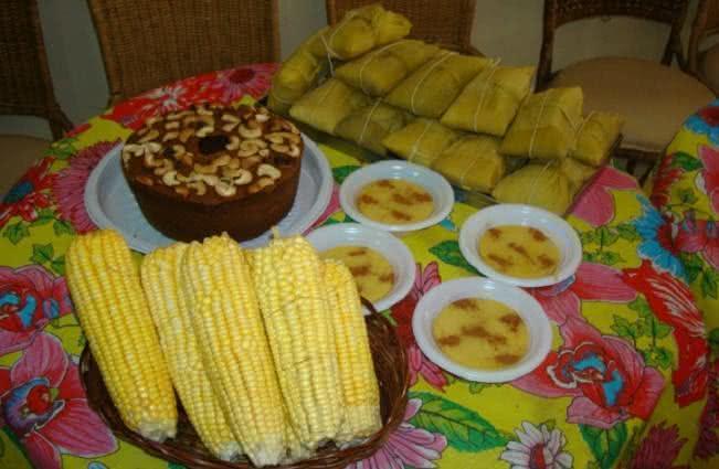 Imagem de comidas típicas juninas