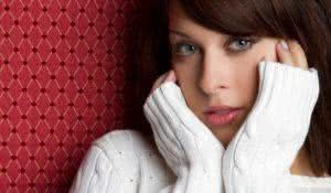 Beautiful woman wearing winter sweater