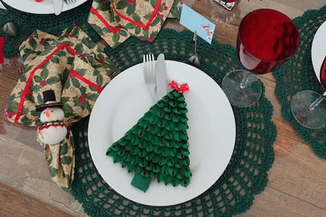 Prato decorado para o natal.