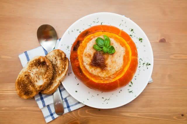 Receitas de pratos para mamães veganas - Moranga recheada