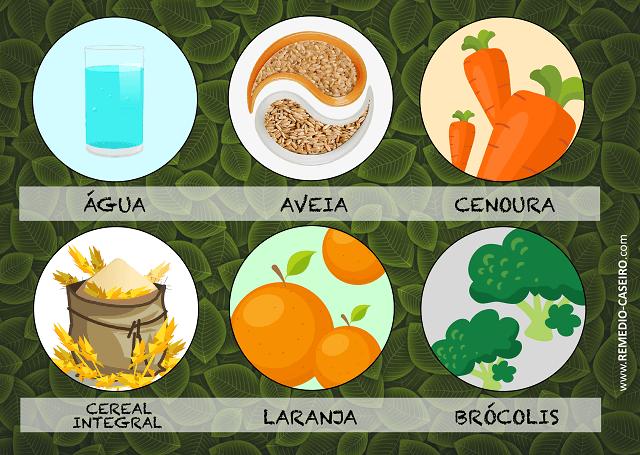 Alguns alimentos possibilitam o aumento no metabolismo, como brócolis, aveia e laranja