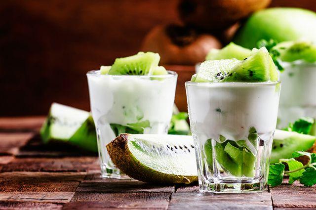 O leite pode figurar como uma das combinações para suco de kiwi