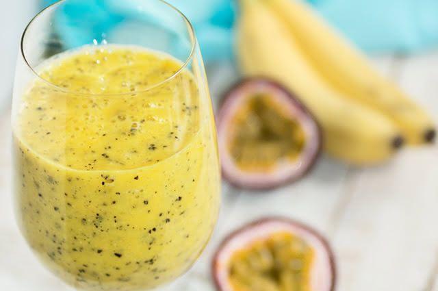 A combinação de suco de maracujá com banana é muito aceita pela criançada
