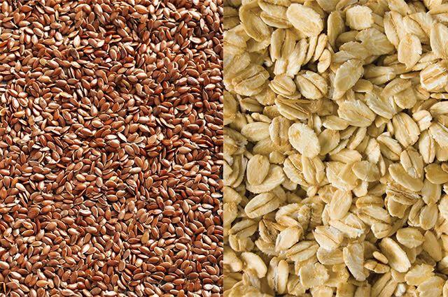 Aveia e linhaça, que são ricas em fibras, são excelentes para auxiliar na digestão