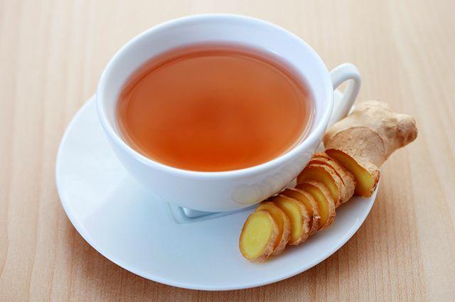 Xíicara com chá de gengibre
