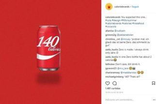 Artista recria embalagens para mostrar calorias de alimentos no lugar da marca