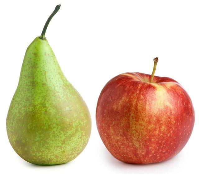 Frutas como a maçã e a pera integram a lista dos remédios caseiros para azia na gravidez