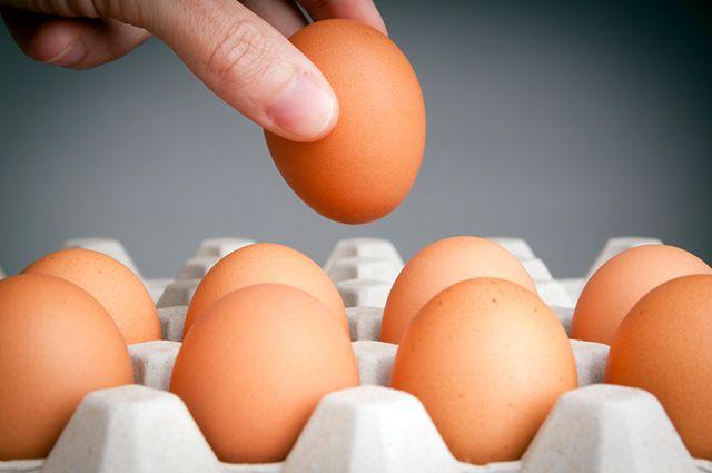 Ovos numa bandeja
