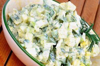 Salada de maionese simples light