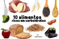 Lista com 10 alimentos ricos em carboidratos