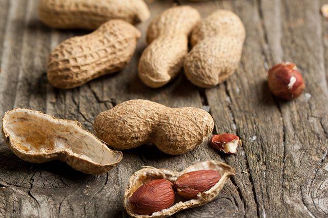 Grãos de amendoim