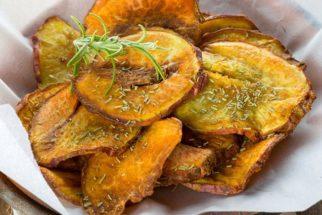 Como fazer chips de batata doce fácil