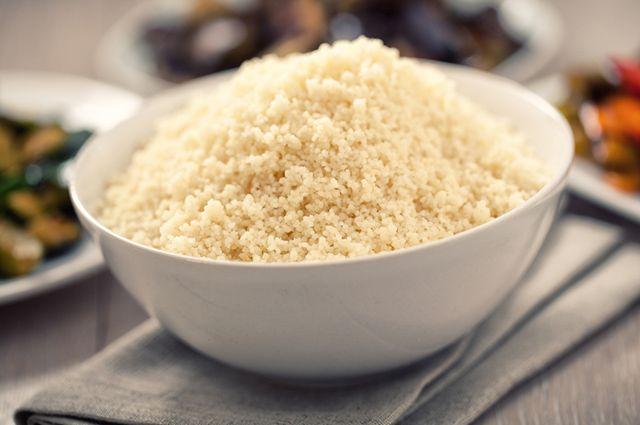 Cuscuz branco de arroz