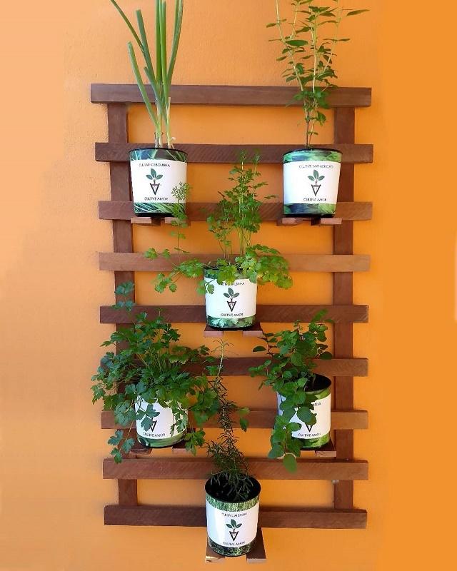 Horta vertical com palet