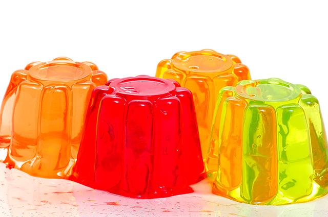 Gelatinas coloridas