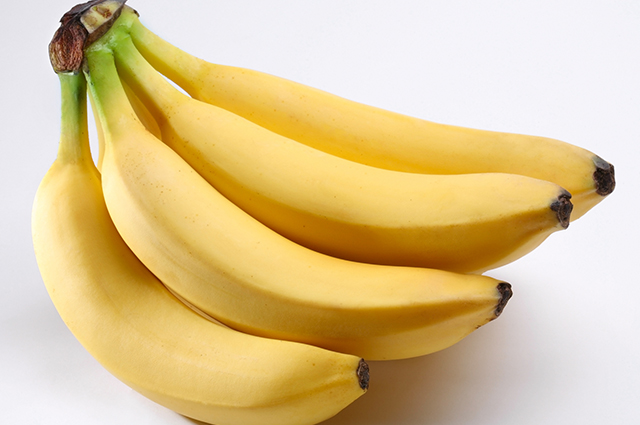 Cacho com bananas maduras